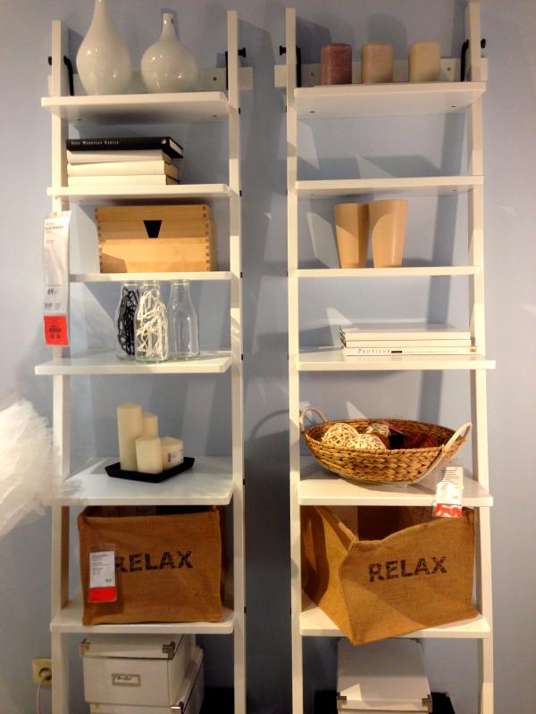 Inspiration bei IKEA-Leiterregal
