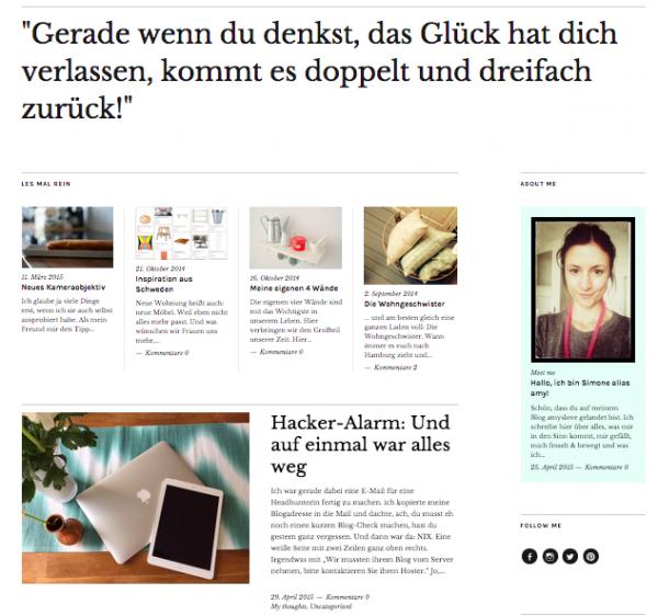 Blogrundgang Bildschirmfoto amyslove
