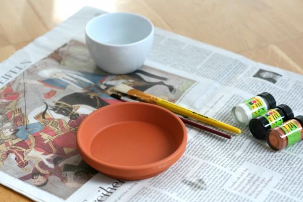 DIY Terrakotta-Schlae Pinsel Acrylfarben