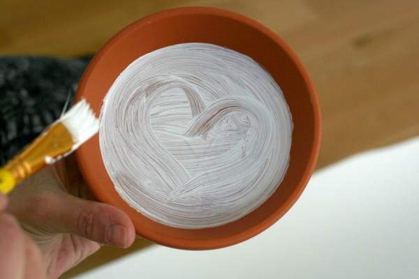 DIY Terrakotta-Topf Weiß Farbe Herz I amyslove